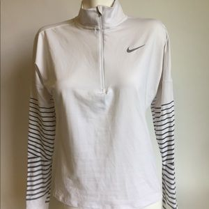 Nike Dri-Fit White Activewear Sports Jacket size S